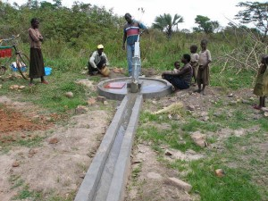 Completed Well - Northern Uganda