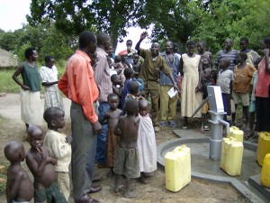 Ogek well after completion - Northern Uganda