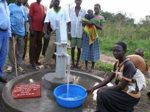 Well site after completion - Northern Uganda