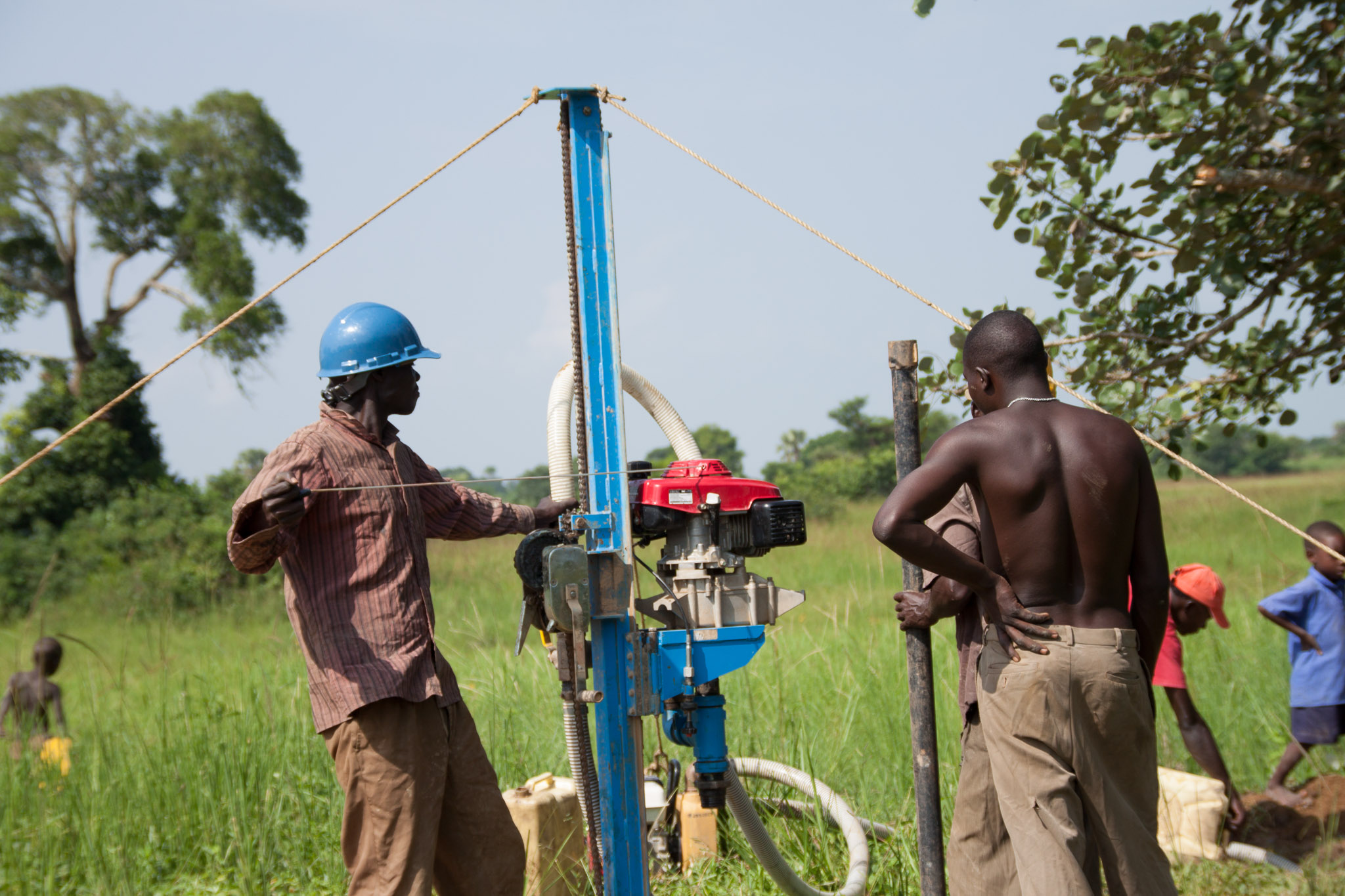 Well drilling with help of donations